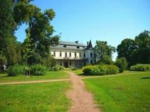 Backview della repubblica Ceca del castello di Slatinany Fotografia Stock Libera da Diritti