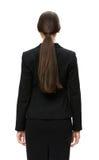 Backview do busto da mulher de negócios foto de stock royalty free