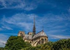 Backview Katedralny Notre Damae przy Ile De Los angeles Citï ¿ ½ przy Paryż Zdjęcia Royalty Free