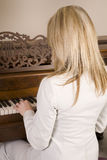 Backview piano Royalty Free Stock Image