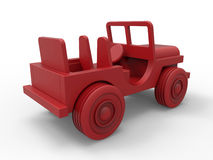 Backview of a red toy car Royalty Free Stock Images
