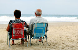 Backview of senior couple Royalty Free Stock Images