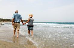 Backview of senior couple Stock Photography