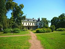 Backview of Slatinany castle Czech Republic Royalty Free Stock Photo