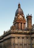 Backview Townhall Лидса Стоковое Изображение