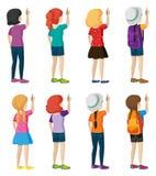 Backview van het jonge meisjes schrijven Royalty-vrije Stock Fotografie