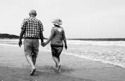 Backview von älteren Paaren Lizenzfreie Stockbilder