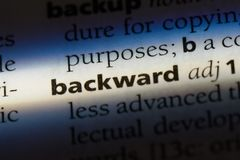 backward fotos de stock
