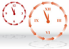 Backward Clock Stock Images