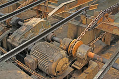 Backward industrial production line Stock Photo