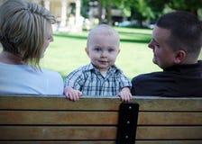 Backwards Baby - horizontal Stock Photo