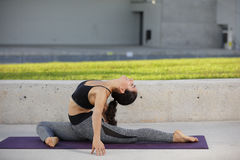 Backwards bend yoga pose Stock Photography