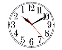Backwards Clock. A clock going anti-clockwise to tell the time royalty free illustration