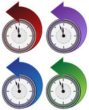 Backwards Clock Arrow Set Royalty Free Stock Photography