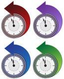 Backwards Clock Arrow Set Royalty Free Stock Photography