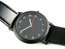 Backwards watch. Face stock photography