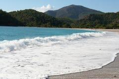 backwash plaży okręt podwodny tropikalny obraz royalty free