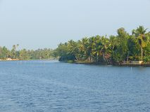 A Backwater Canal in Kerala, India - A Natural Background Stock Photos
