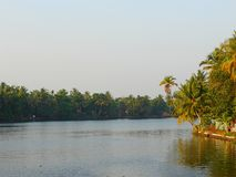 A Backwater Canal in Kerala, India - A Natural Background Stock Photography