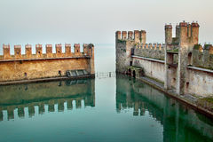 Backwater inside the Scaliger Castle Stock Photo