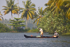 Backwater of Kerala , India Royalty Free Stock Images