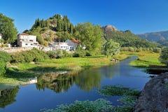 Backwater of Skadar Lake, Montenegro Royalty Free Stock Images
