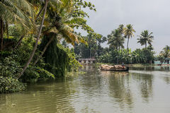 Backwaters in Alleppey Stock Photo