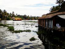 Backwaters. Boat cruize in Alleppy stock photography