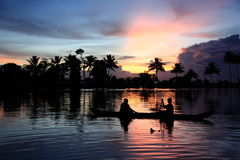 Backwaters of Kerala Stock Image