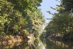 The backwaters kerala Stock Photography