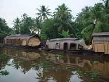Backwaters in Kerala stock image
