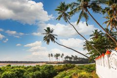 The Backwaters of Kerala near Varkala. Black beach Stock Photo