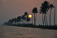 The Backwaters of Kerala Royalty Free Stock Photography