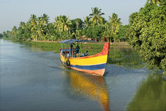 Backwaters- Daily life- Motor boat travel Stock Photo