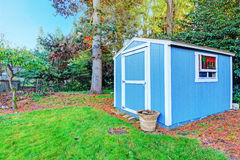 Backyad small shed Stock Images