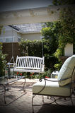 Backyard. A relaxing backyard view on a sunny day Royalty Free Stock Photo