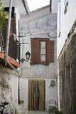 Backyard. In Vassiliki,Greece stock photo
