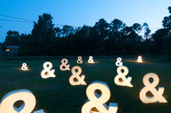 Backyard of Ampersands Lights Royalty Free Stock Images