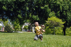Backyard Ball Stock Photography