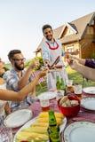 Backyard barbecue party stock photo
