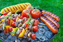 Backyard barbecue Stock Photo