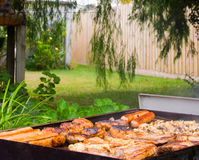 Backyard Barbeque Royalty Free Stock Photos
