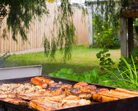Backyard Barbeque stock photo