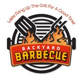 Backyard BBQ Barbecue invitation logo art vector