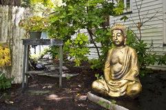 Backyard Buddah Stock Photo