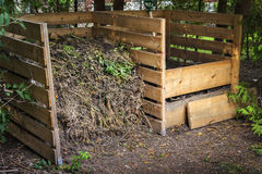 Backyard compost bins Royalty Free Stock Photos
