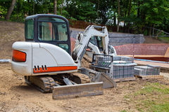 Backyard Construction Landscaping Stock Photography