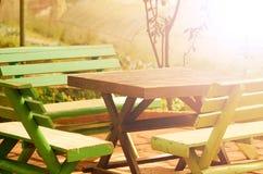Backyard Corner with Warm Light. Royalty Free Stock Image