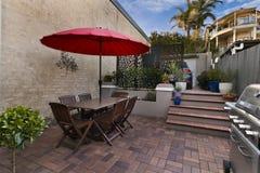Backyard cozy patio area Royalty Free Stock Photography