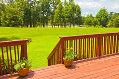 Backyard Deck Stock Photography